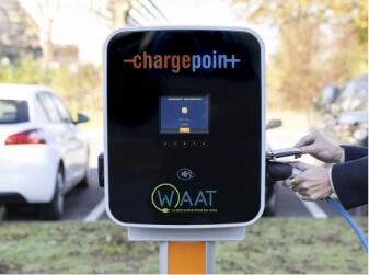 Borne de recharge waat charge point